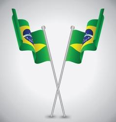 Brazil Waving Flag vector image vector image