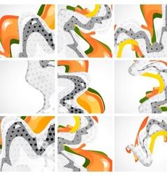Cartoon abstract waves vector image