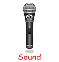 Cartoon microphone character vector image