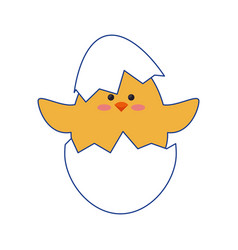 chick egg shell vector image
