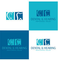 dental and hearing audiology logo and icon vector image vector image