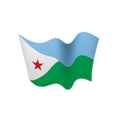 Djibouti flag vector