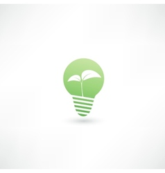 Eco light bulb vector image vector image
