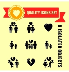 Family concept quality icon set vector