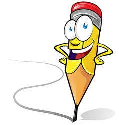 Fun pencil cartoon vector