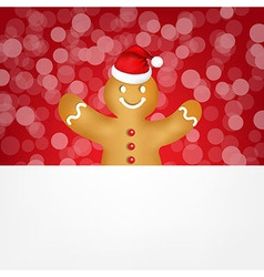 Gingerbread with bokeh vector
