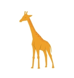 giraffe african animal vector image vector image