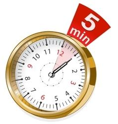 gold shiny clock vector image
