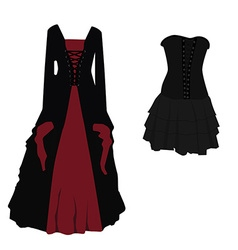 Gothic dress set vector image