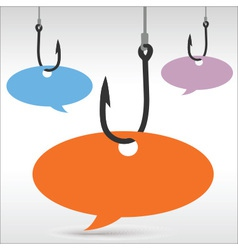 Hook speech bubble vector image vector image