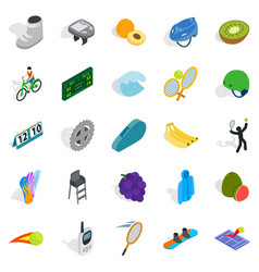 important championship icons set isometric style vector image