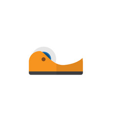Isolated adhesive tape flat icon sticky vector