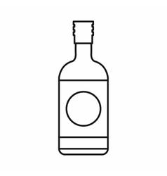Japanese liquor sake bottle icon outline style vector