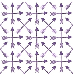 Pattern with crossed ethnic arrows vector