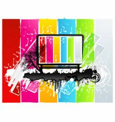 rainbow grunge sign vector image