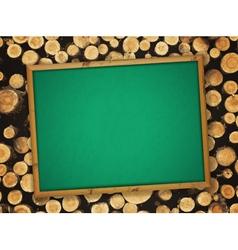 school empty blackboard vector image