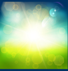 Shiny blue and green background vector