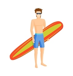 Surfing boy vector image