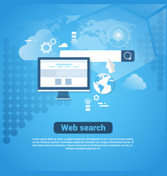 template internet banner with copy space web vector image