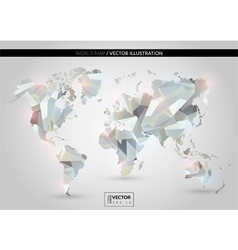 White crystal world map vector