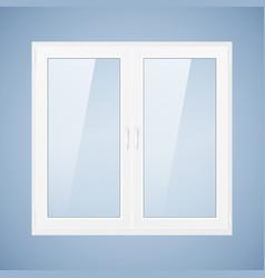 white plastic window vector image