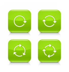 Green arrow refresh reload rotation repeat icon vector