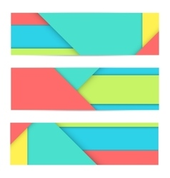Banner of modern material design vector
