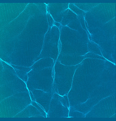 abstract blue wave mesh background vector image