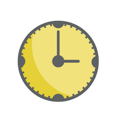 Yellow clock to know the time of day vector