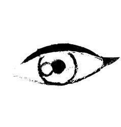 Female eye optic cartoon icon sketch vector