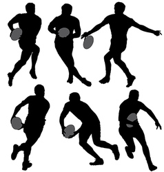 Rugby silhouette vector