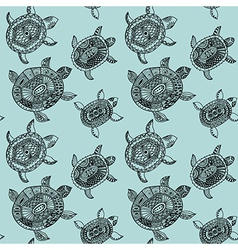 Seamless pattern with turtles seamless pattern can vector