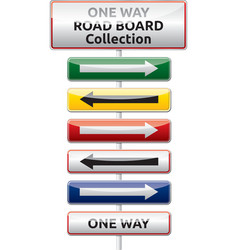 One way traffic board collection vector