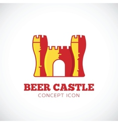 Beer castle concept symbol icon vector