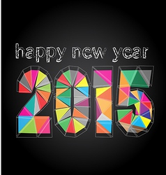 Happy new year 2015 made in polygonal vector