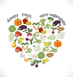 Isolated heart of vegetables vector