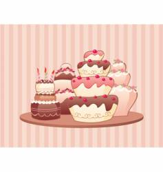 Cakes vector