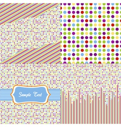 Seamless pattern - polka dots set vector