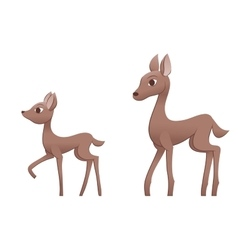 Mother deer and fawn vector