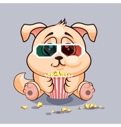 Dog watching a movie vector