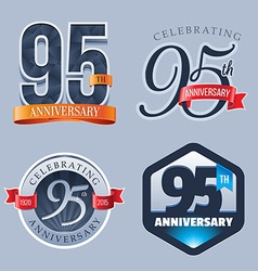 95 Years Anniversary Logo vector image