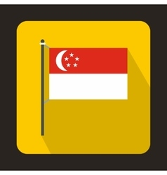 Flag of singapore icon flat style vector