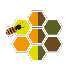 Bee hive team work community concept vector