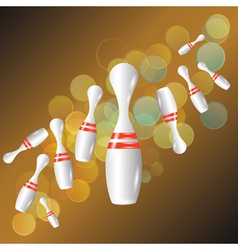 Bowling background vector