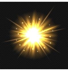 Bright orange explosion vector image vector image