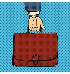 Business briefcase suitcase vector image vector image