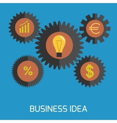 Business idea vector image vector image