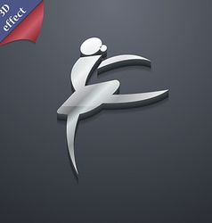 Dance girl ballet ballerina icon symbol 3d style vector
