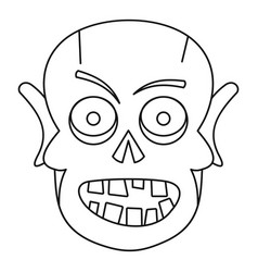 Dead icon outline style vector