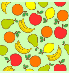 fruit seamless pattern vector image